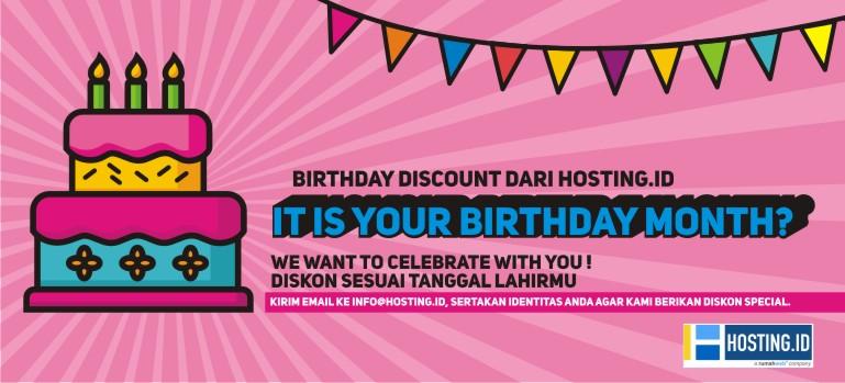 banner birthday discount hosting.id