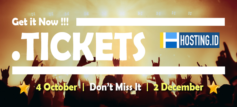 promo domain .ticket banner