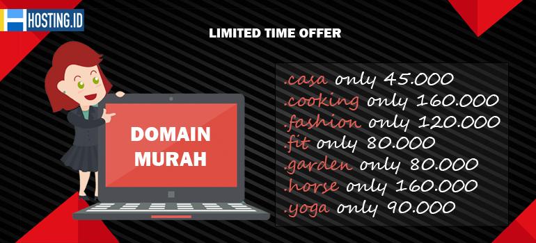 Promo Domain Murah Hadir kembali di Hosting.ID - Home Banner