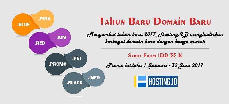 Promo Tahun baru domain baru di hosting.id - Home banner