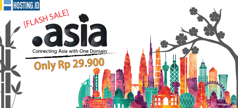 Flash Sale Domain Asia hanya Rp 29900 - Home Banner