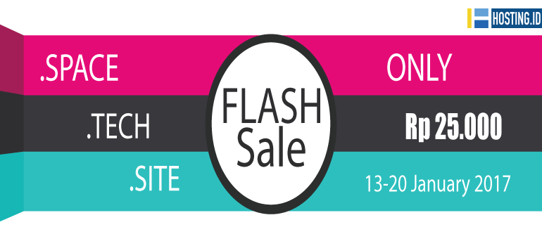 Flash Sale tech site space - home banner