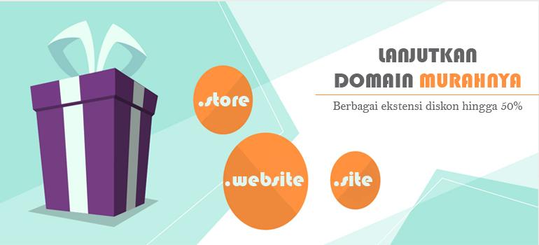 Promo lanjutkan domain murahnya - home banner